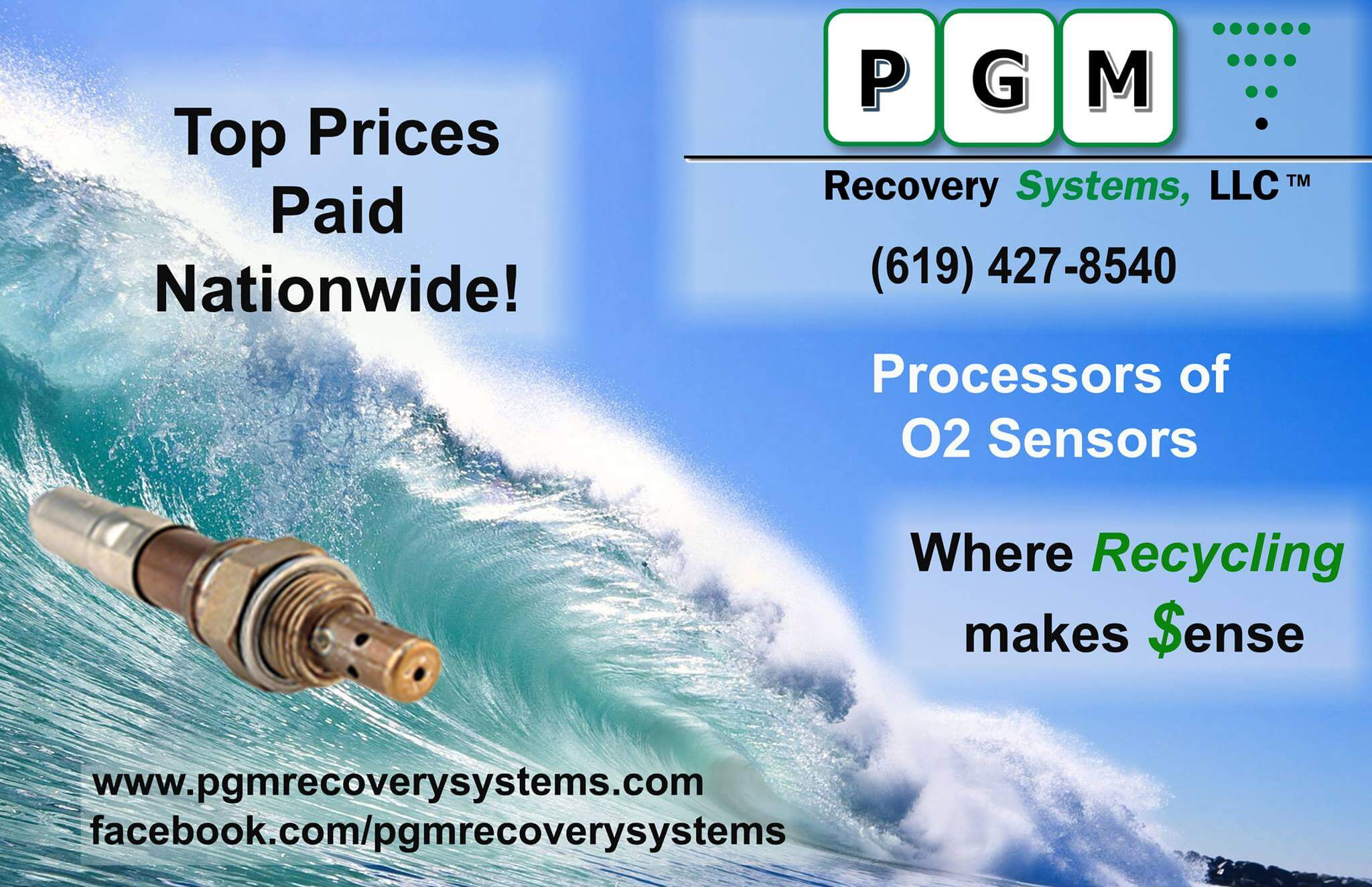 pgm recycle o2 sensors ad pgm recovery systems
